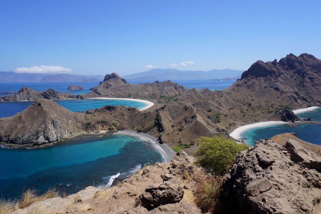 Isla de Padar, Las 3 bahias
