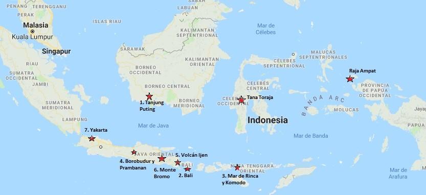 Qué visitar en Indonesia: Lista de lugares más recomendables
