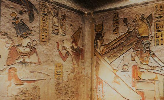 Valle de los Reyes - Paredes de la tumba de Ramsés III