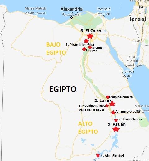 10 mejores lugares que visitar en Egipto