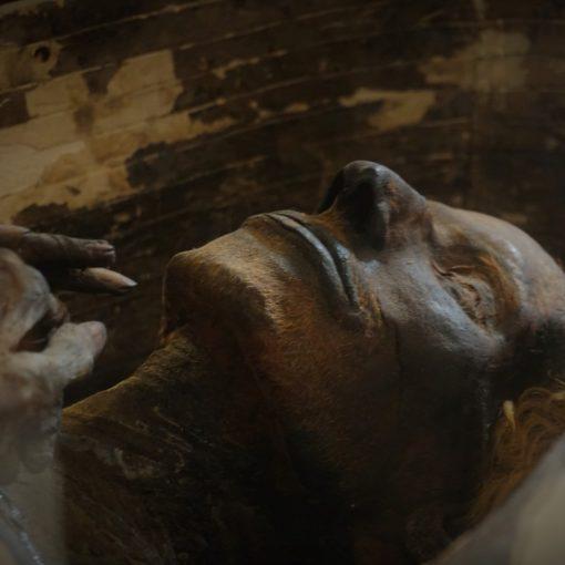 Momia en sarcófago