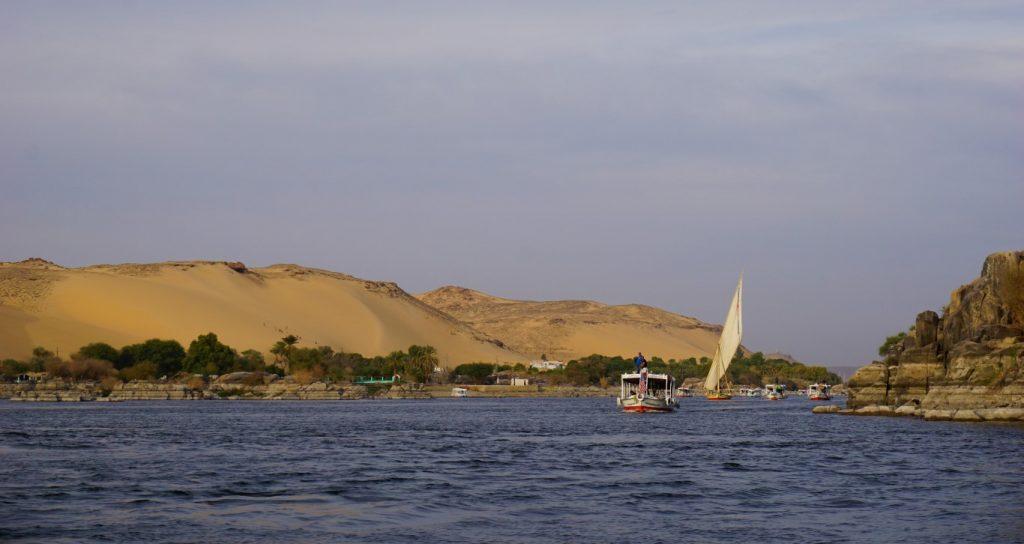 El río Nilo en Asuán