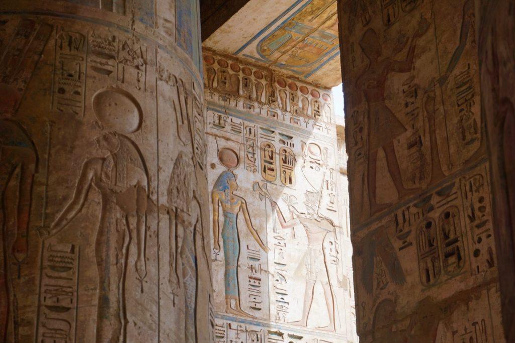 Jeroglíficos de la Necrópolis de Tebas