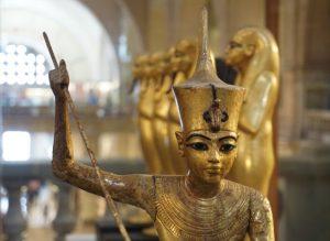 Estauilla de oro en Museo Egipcio